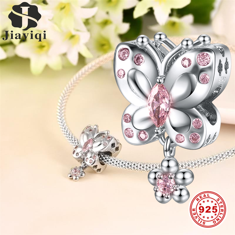 ICYROSE Solid 925 Sterling Silver Dangling Champagne Glasses Valentines Charm Bead for European Snake Chain Bracelets