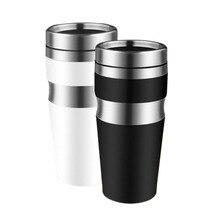 450 ml Edelstahl wasserflasche Kaffeetasse Tee Mode Flasche Thermocup Auto Tassen