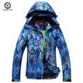 2016 de invierno de las mujeres Geométrica impreso capa del algodón a prueba de viento impermeable de algodón térmico abrigo señoras chaqueta y pantalones fija 9652