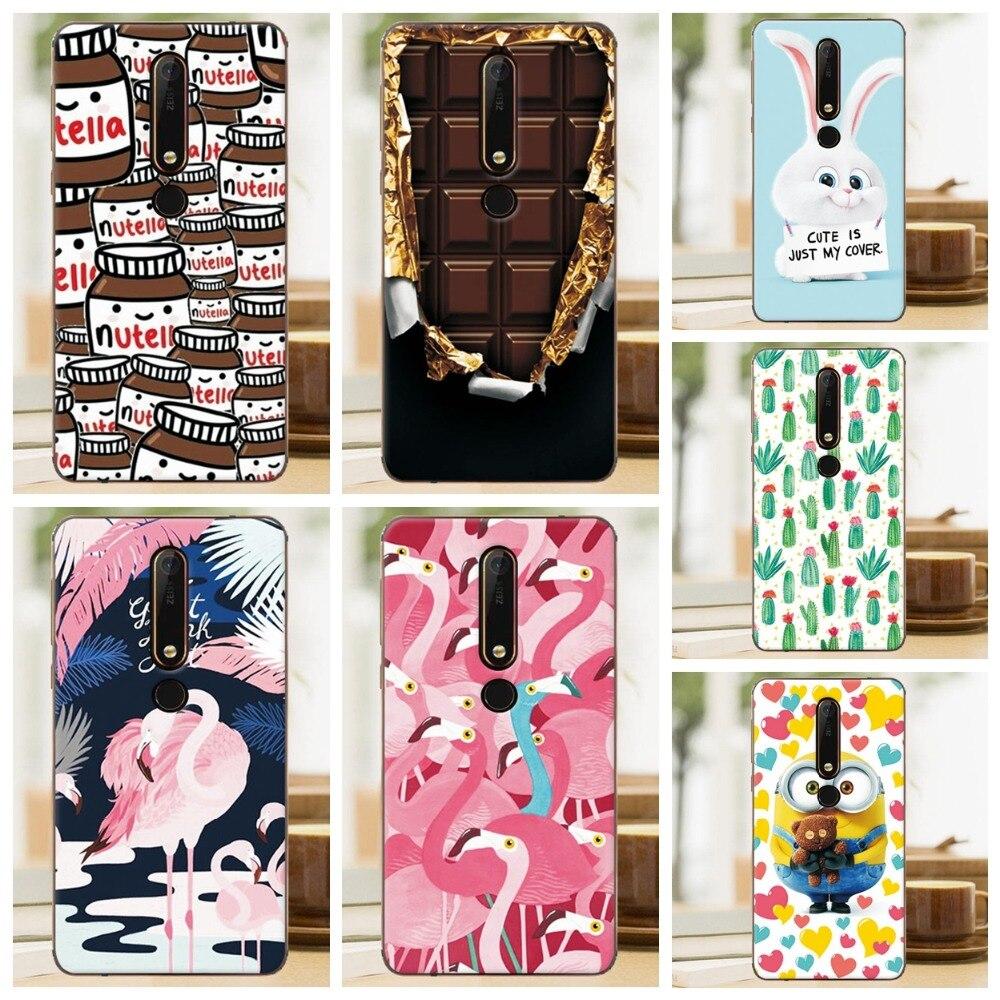 TPU Silicone Case Cover For Nokia 6 2018 / Nokia 6.1 Painted Mermaid Flamingo Phone Cases For Nokia 6 2018 Covers Nokia 6.1 5.5