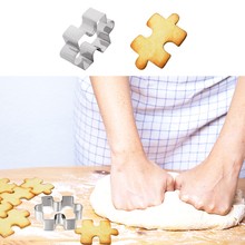 1Pcs Stainless Steel Cake Cookie Puzzle Shape Cutter Mold Tool Fondant Sugarcraft Baking Accessories