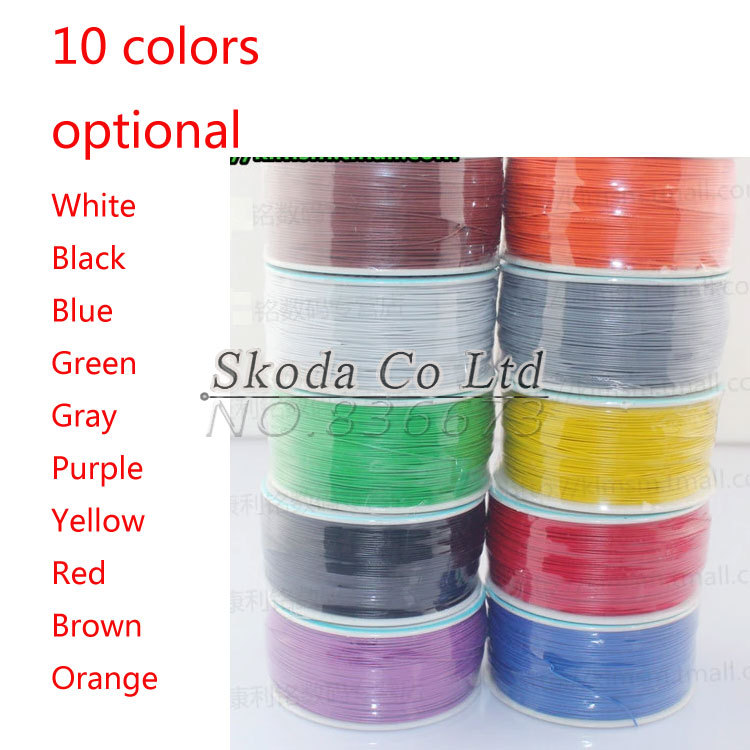 Free Shipping High quality electrical Wire Wrapping Wire Wrap 10 colour can choose AWG30 Cable high quality electrical wire wrapping wire wrap 10 colors single strand copper awg30 cable ok wire