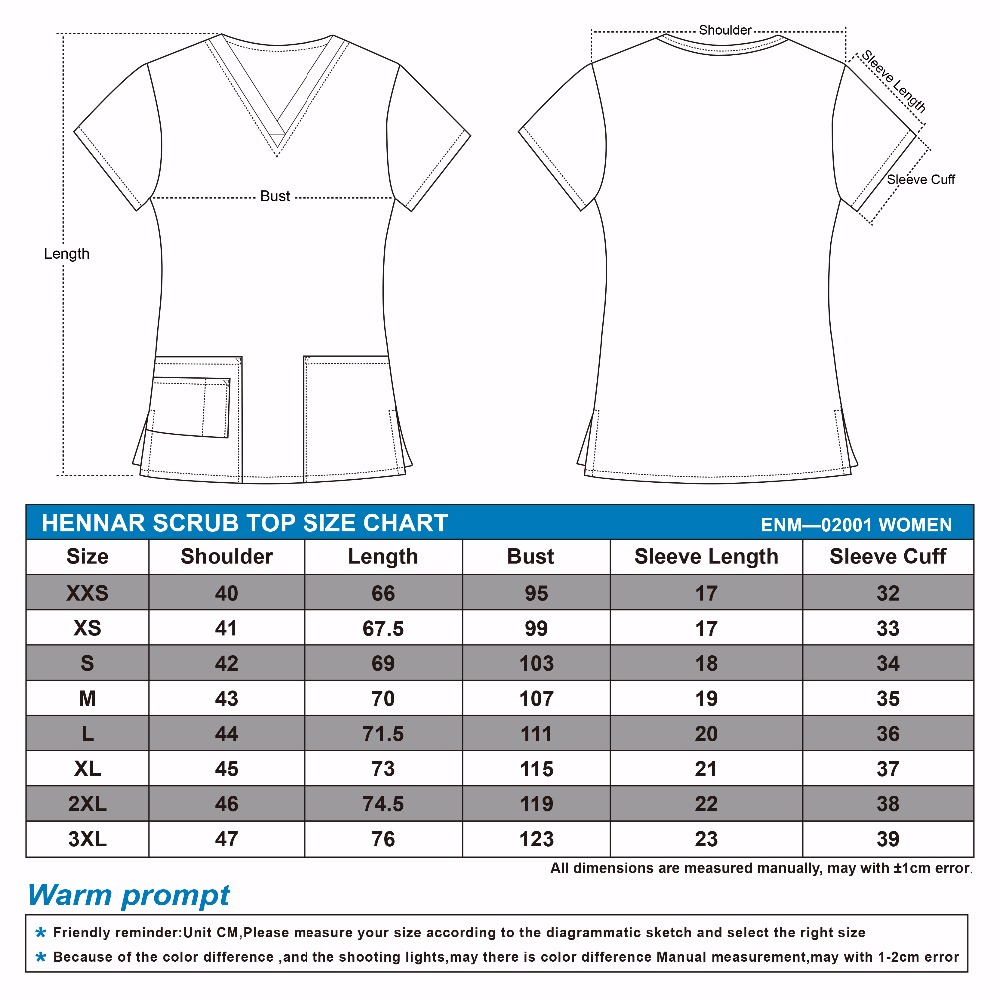 Image 2 - Hennar Women medical scrub tops in 100% cotton scrubs,women scrub tops,women medical uniforms-in Scrub Tops & Bottoms from Novelty & Special Use