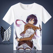 Attack on Titan Mikasa Levi T-shirts Men Women Short Sleeve