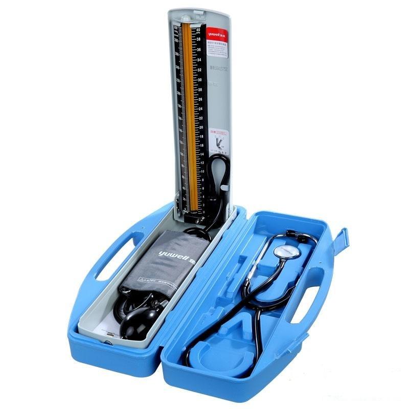 Yuwell Mercury sphygmomanomètre Set A Blue Box accueil bureau Instrument de pression artérielle bras âgé mesure manuelle