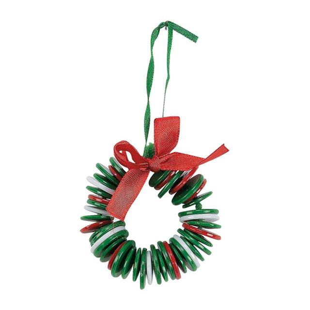 2017 christmas button garland diy xmas tree ornaments for Garland christmas tree craft