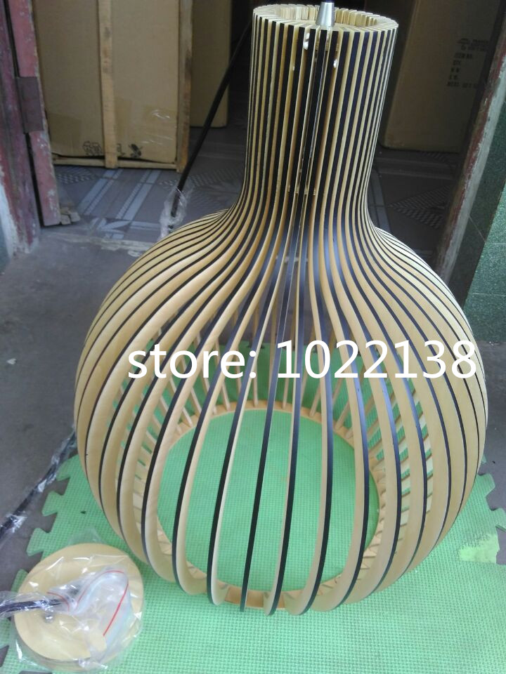 Image 2 - Modern Black Wood Birdcage E27 bulb Pendant light norbic home deco bamboo weaving wooden Pendant lamp-in Pendant Lights from Lights & Lighting