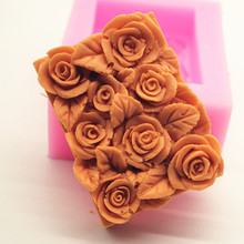 Wholesale Many Roses soap Mold / hand making Molds silicone rose mould