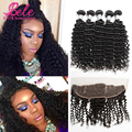 Malaysian Curly Hair With Frontal Closure Ali Moda Malaysian Deep Wave Human Hair Ear To Ear Lace Frontal Closure With 3 Bundles