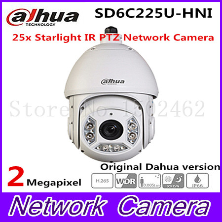 Dahua 2Mp Full HD 25x Starlight IR PTZ camera Dahua SD6C225U-HN IR Distance up to 100m,SD6C220T-HN,dahua ptz,free DHL shipping