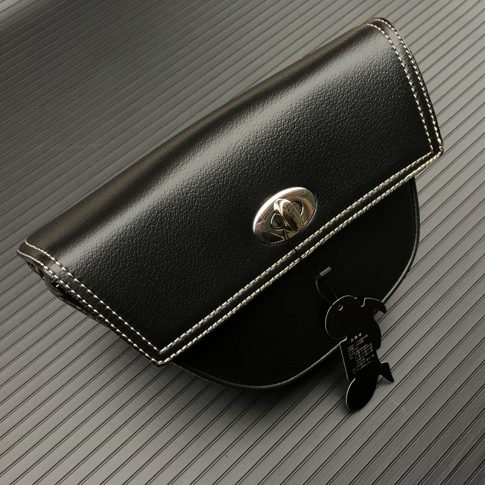 1 PCS Motorcycle Accessories Black PU Leather Side Clinch Bolt Saddle Bag Universal For Harley Sportster