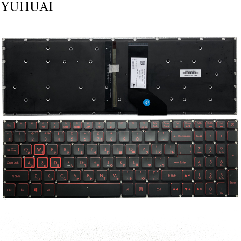 NEW RU keyboard for Acer Nitro 5 AN515 AN515-51 AN515-51-705  Russian laptop Keyboard with backlitNEW RU keyboard for Acer Nitro 5 AN515 AN515-51 AN515-51-705  Russian laptop Keyboard with backlit