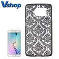 Case For Samsung Galaxy S6 Edge Plstic Back Cover Embossed Flowers Pattern Cheap Smartphone Protective Hard Case