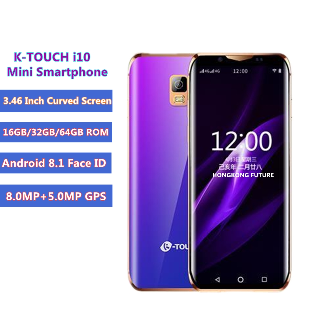 Smallest phone K touch i10 3 46 Inch Mini Curved Screen 16GB 32GB 64GB ROM telefone