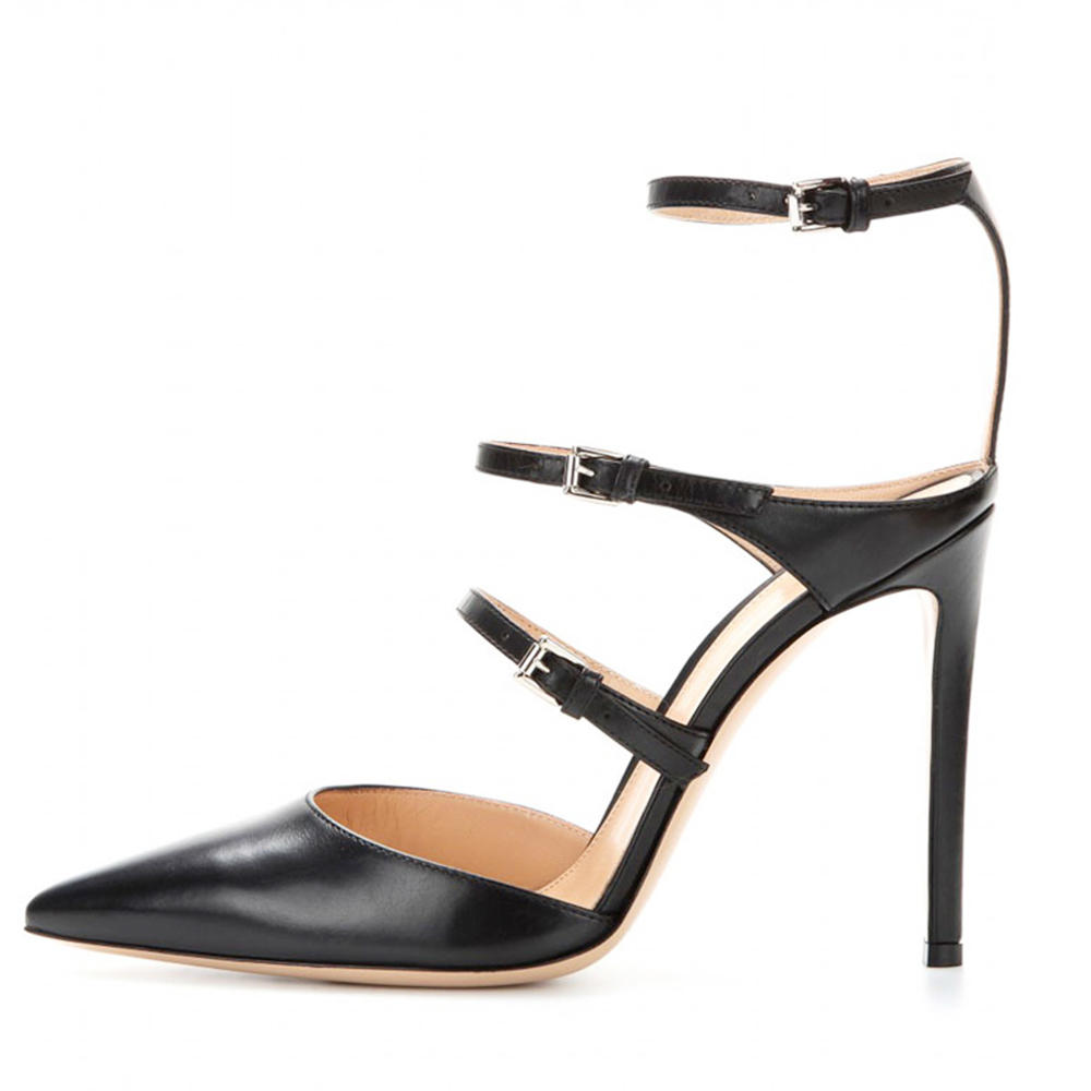 ФОТО Inisastyle 2016 New fashion Frauen pumps mujer patent rome sandalias women's stiletto High heel buckle strap shoes big size4-15
