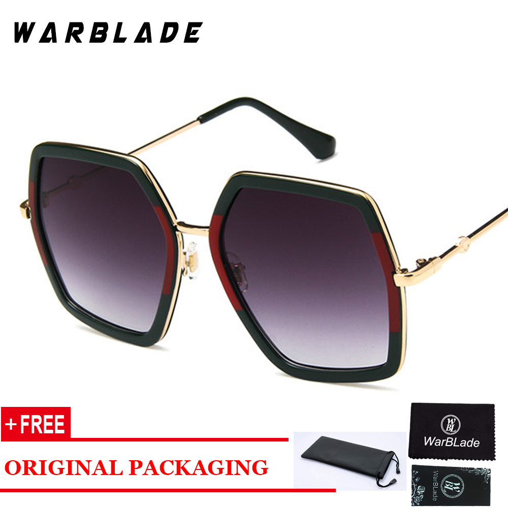 2018 Fashion Square Sunglasses Women Oversized Crystal Frame Sun Glasses Sexy Female Eyewear Oculos De Sol UV400 <font><b>3082</b></font> image