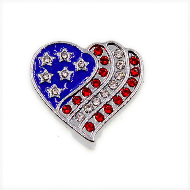 Multiple options 10pcs heart flag cross Internal Dia. 10mm slide Charms fit  10mm wristband pet collar key chain Jewelry Finding efeec8937fe3