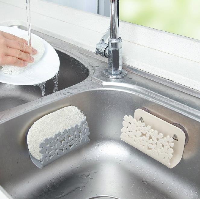 Kitchen Dish Drainer Rack Kitchen Organizer Sink Sponge Holder Bathroom Toilet Soap Clean Holder Kitchen Storage Stuff Thing