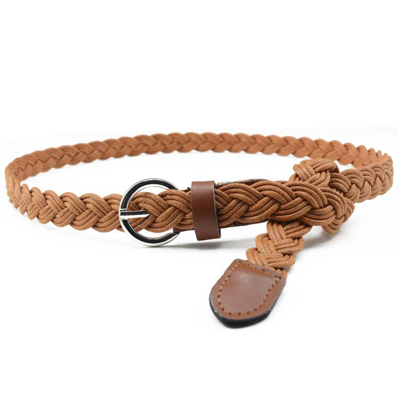 Hot Sell New Retro Casual Womens Belt New Style Candy Colors Hemp Rope Braid Belt Female Belt For Dress 10 color