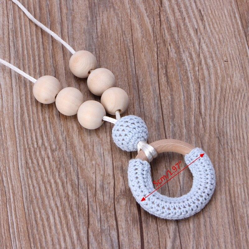 ОРГАНИЧЕСКИЙ ХЛОПОК прорезывания зубов Цепочки и ожерелья для мамы деревянный звонкое Цепочки и ожерелья ребенка мама подарок Аксессуары для младенцев