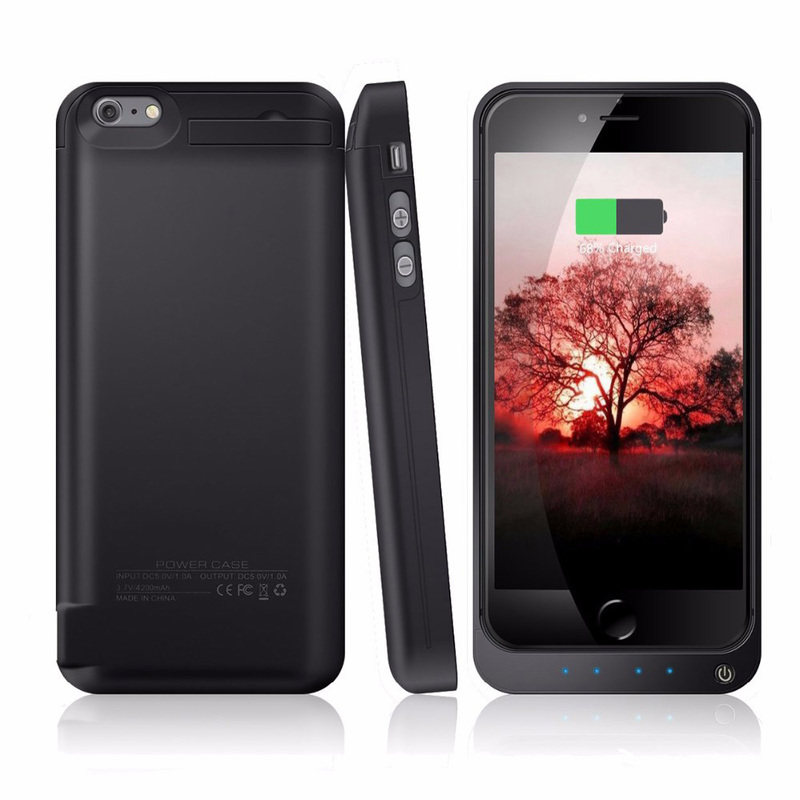 Black SYR-4200mAh External Battery Backup Charger Case Pack Power Bank for iPhone 5//5s//5c SE