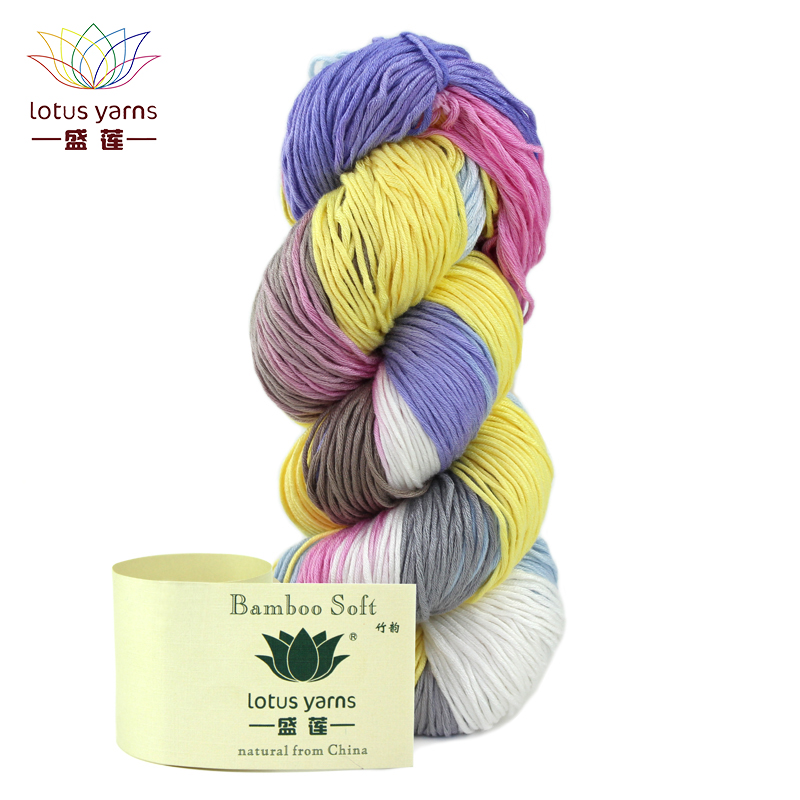 Lotus Yarns Bamboo Soft Yarn Natural Bamboo Hand Knitting Colored DIY Crochet