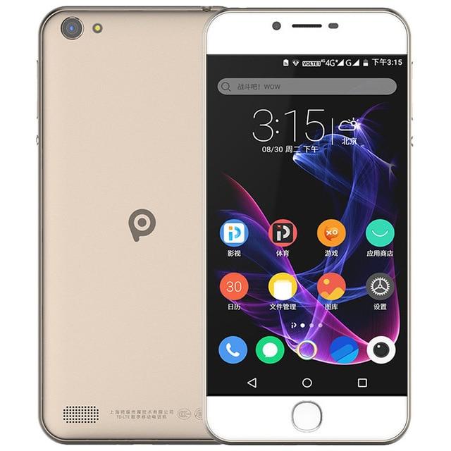 Original PPTV V1 MT6735P CPU 2GB RAM 16GB ROM 5.0 Inch 1280*720 Pixel 4G FDD-LTE Fingerprint Dual SIM card Android 7.3mm body