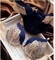 Intimates Bra y Panty Set Ropa Interior de Encaje Empuje Hacia Arriba El Sujetador Sujetador Al Por Mayor Estilo de La Manera, Sujetador atractivo Fijó Caliente Azul rosa Púrpura