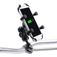 Soporte de teléfono móvil portátil para bicicleta de aleación de aluminio giratorio de 360 grados