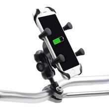 Suporte de telefone portátil de liga de alumínio, rotativo 360 graus, para bicicleta, moto, celular