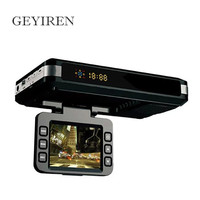 GEYIREN 720 P HD Dvr Camera Video Recorder Auto Dash Cam + GPS Snelheid Waarschuwing + Laser Speed Detector voor RU Radar Detector
