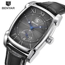 BENYAR Marca de Lujo Reloj de Los Hombres Fecha 30 m Impermeable Reloj Masculino de Cuarzo Ocasional Mira a Los Hombres Reloj de pulsera Deportivo erkek kol saati