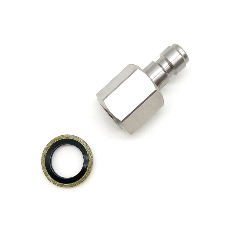 Free Ship PCP Paintball Quick Plug Female Stainless Steel Air Filling 8mm Coupling Socket 1/8BSPP 1/8NPT