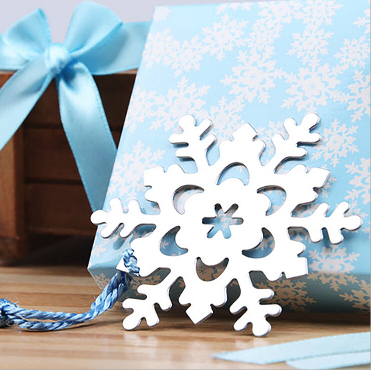 Fashion Special Design wedding decoration 20PCS Snowflake Bookmark wedding baby shower party favors gifts