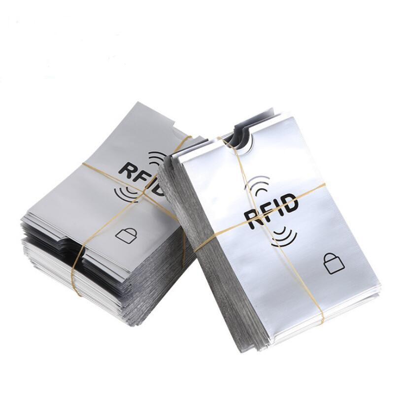 10 шт., чехол для карт с защитой от сканирования, защита для кредитных карт RFID, анти-магнитная алюминиевая фольга, портативный держатель для к...