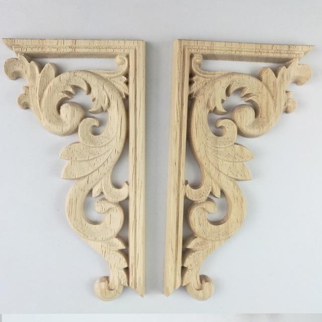 Decorative Wood Appliques Wood Carving Decal Corner Applique Frame ...