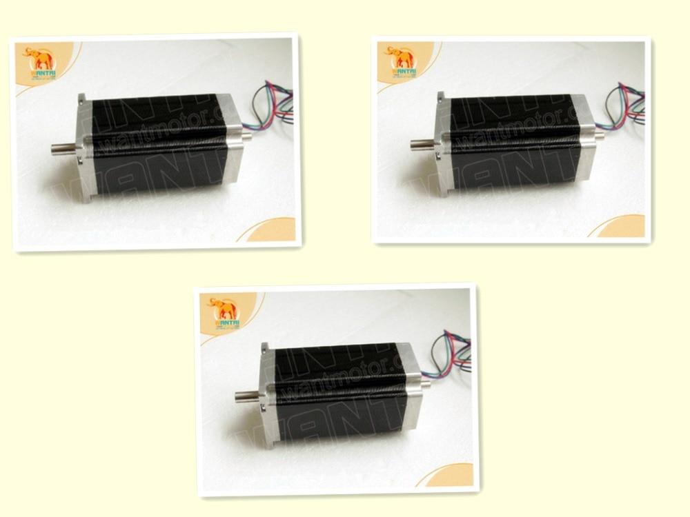 Wantai 3PCS Nema 23 Stepper Motor Dual Shaft 57BYGH115-003B dual shaft 3.0A 3Nm 425oz-in 115mm CE ROHS ISO Embroidery 3D PrinterWantai 3PCS Nema 23 Stepper Motor Dual Shaft 57BYGH115-003B dual shaft 3.0A 3Nm 425oz-in 115mm CE ROHS ISO Embroidery 3D Printer