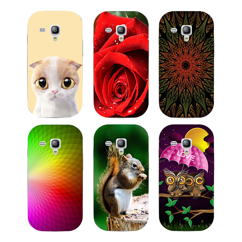Case For Samsung Galaxy S Duos GT S7562 GT-S7562 7562 Trend Plus S7580 S7582 GT-S7580 GT-S7582 Cover Printed Cat Owl Phone Case ...