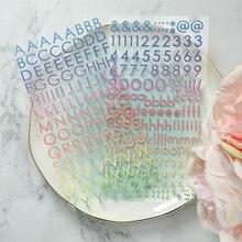 KLJUYP 2 шт красочные буквы самоклеющиеся ПВХ наклейки для скрапбукинга/поделок/открыток украшения