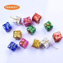 New 3cm Mix Colors Christmas Small Gift Bag High Quality Artificial Gift for Christmas Decoration цена 2017