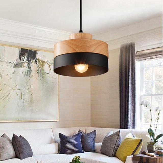 Hoge Kwaliteit Ronde Massief Hout Hanglampen Moderne