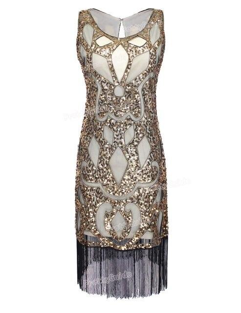 Online Shop PrettyGuide Women 1920\'s Sequin Art Deco Hollow Paisley ...