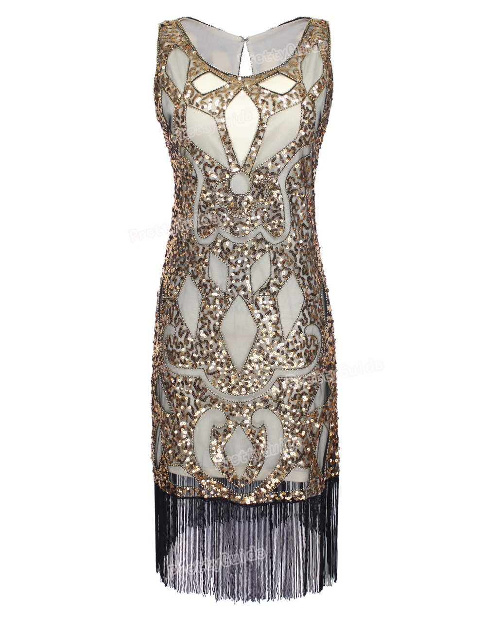 prettyguide women 1920 s sequin art deco hollow paisley tribe tail inspired flapper font b dress