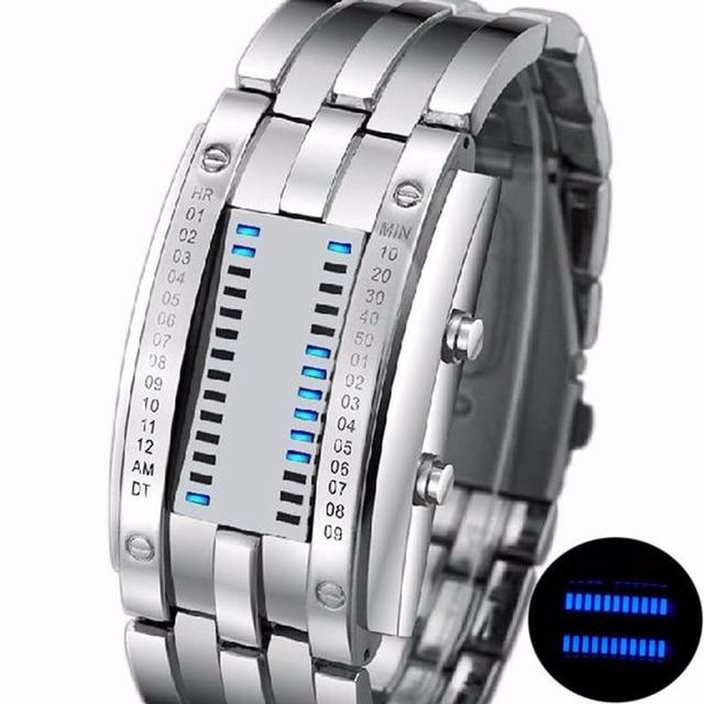 Men Women Creative Luxury Digital LED Watches Bracelet Date Binary Waterproof 30m Military Electronics Wristwatch Relogio Mascul 1