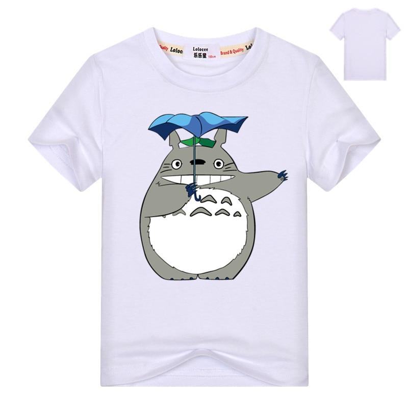 Kids Cartoon Totoro Print Cotton T shirt For Girl/Boy Anime T-Shirts for Children Baby Girls  Kawaii Clothing 4