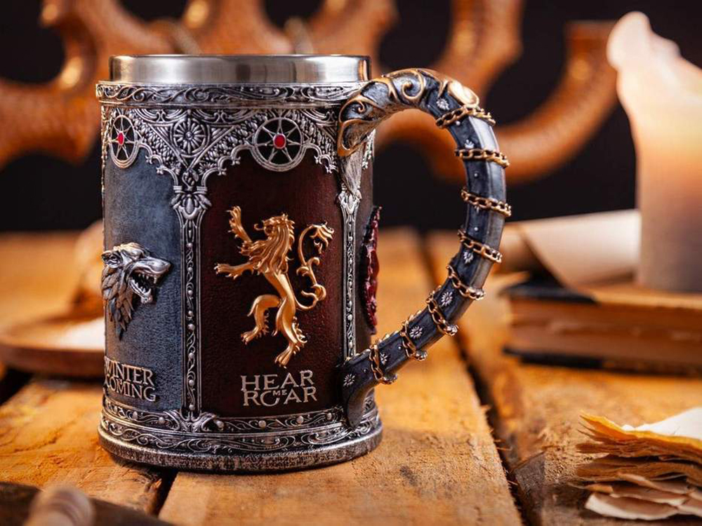 Steel Resin 3D Swords Mug BEST Game of Thrones Fan Gift GOT Beer Coffee Water Drinkware Beer Tankard Cup Mugs 500-600ml