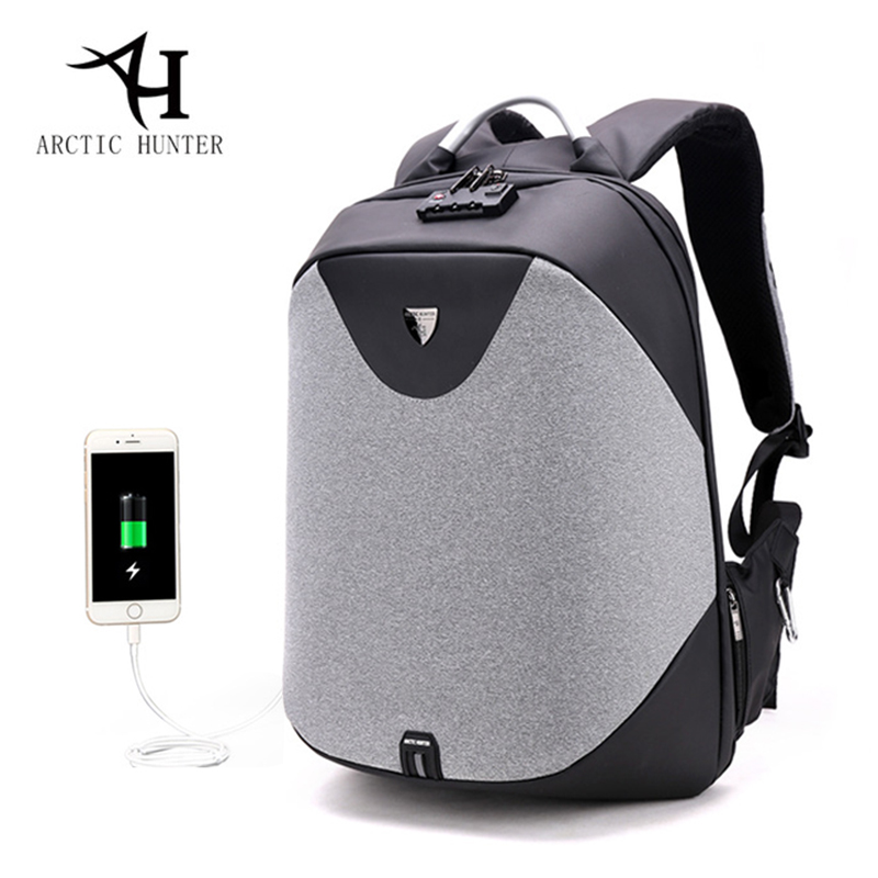 Arctic Hunter Men's Backpacks Bolsa Mochila For Laptop Lock Anti Theft Rucksack Usb Charge School Backpacks For Teenagers