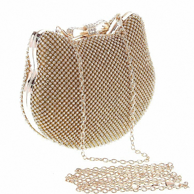 Women Hand Bag Elegant Pearl Oval Type car pattern Womens Day Clutch Evening Bags Wedding Bridal Handbag Purse Shoulder LI-1014