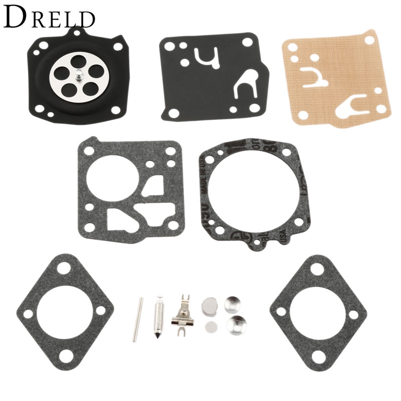 DRELD Carburetor Carb Repair Tool Kit for Tillotson Homelite XL-12 Super XL RK-23HS RK23HS RK-23-HS Carburetor Chainsaw Parts dreld carburetor repair kit carb rebuild tool gasket set for walbro k20 wat wa wt stihl hs72 hs74 hs76 hs75 hs80 chainsaw parts