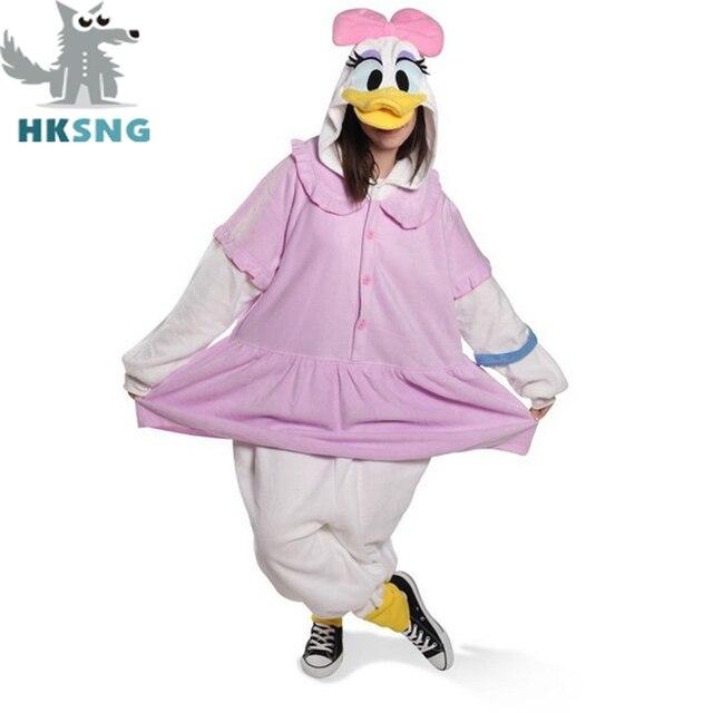 421833e12330 HKSNG New Unisex Feece Material Daisy Duck Pajamas Donald Duck Cosplay  Costumes Cartoon Kigurumi Onesies Christmas Gift